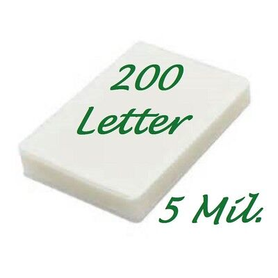 200 Letter 5 Mil Laminating Pouches Laminator Sheets 9 X 11 1 2 Scotch Quality
