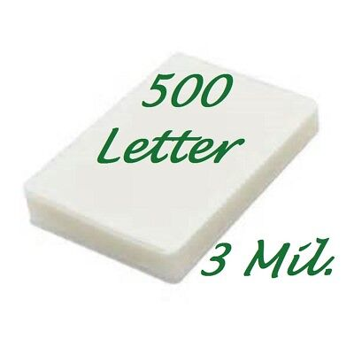 500 Letter 3 Mil Laminating Pouches Laminator Sheets 9 X 11-12 Scotch Quality