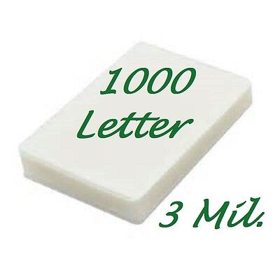 Letter Laminating Laminator Pouches Sheets 1000 9 X 11 50  3 Mil Scotch Quality