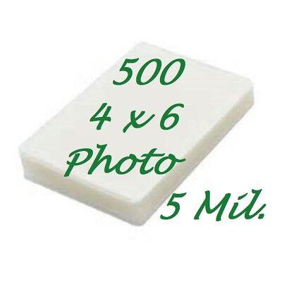 4 X 6 Laminating Laminator Pouches Sheets 4-14 X 6-14 5 Mil 500 Scotch Quality