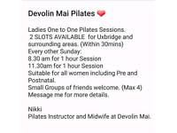 Pilates One to One Sessions.
