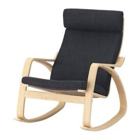 Rocking-chair version of classic IKEA Poang chair