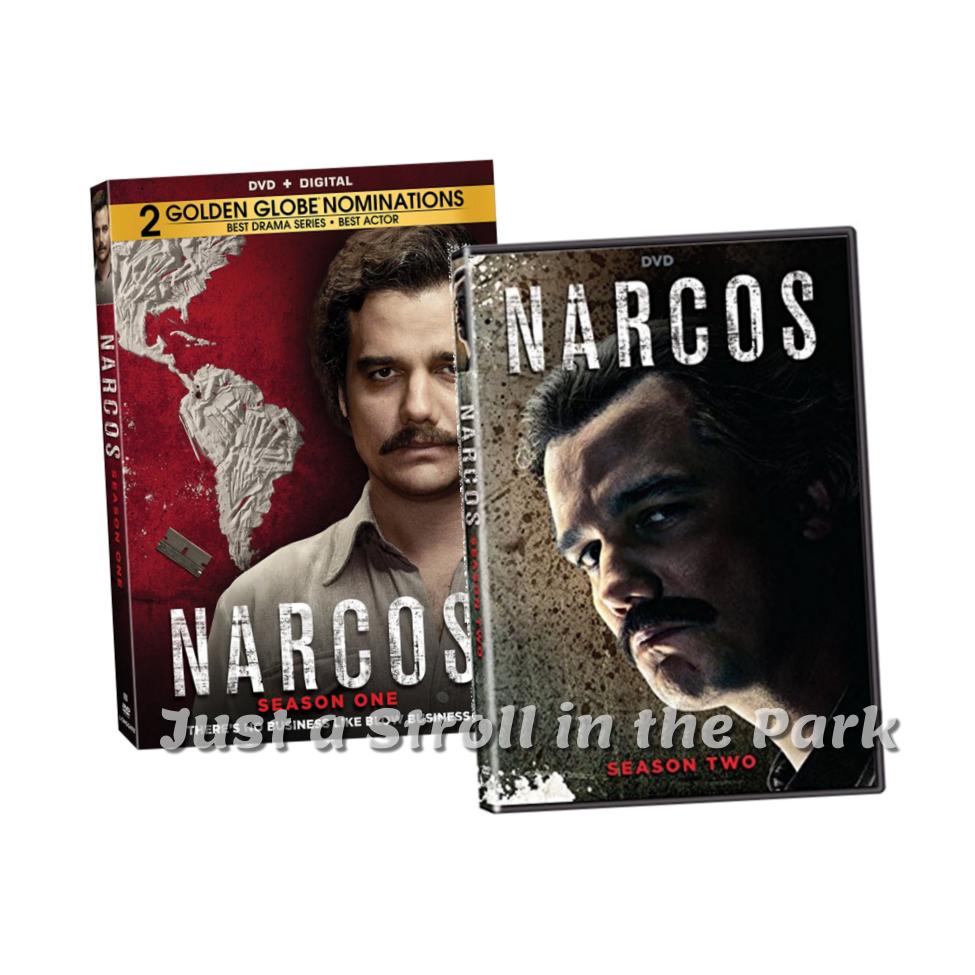 narcos complete pablo escobar tv series seasons 1 2 box dvd set