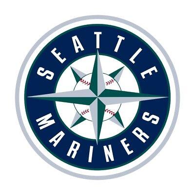 Seattle Mariners Die Cut Decal (Seattle Mariners Round Decal / Sticker Die)