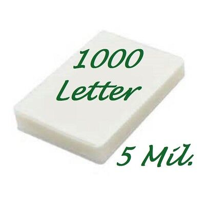 1000 Letter 5 Mil Laminating Pouches Laminator Sheets 9 X 11-12 Scotch Quality