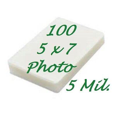 5 X 7 Laminating Pouches Laminator Sheets 5-14 X 7-14 100 5 Mil Scotch Quality
