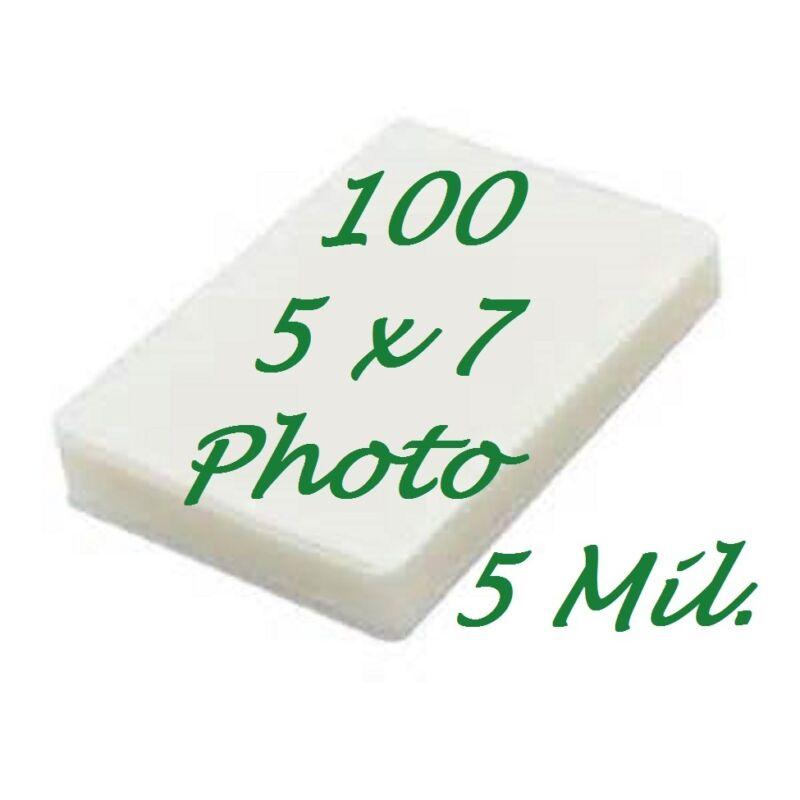 5 x 7 Laminating Pouches Laminator Sheets 5-1/4 x 7-1/4 100 5 Mil Scotch Quality
