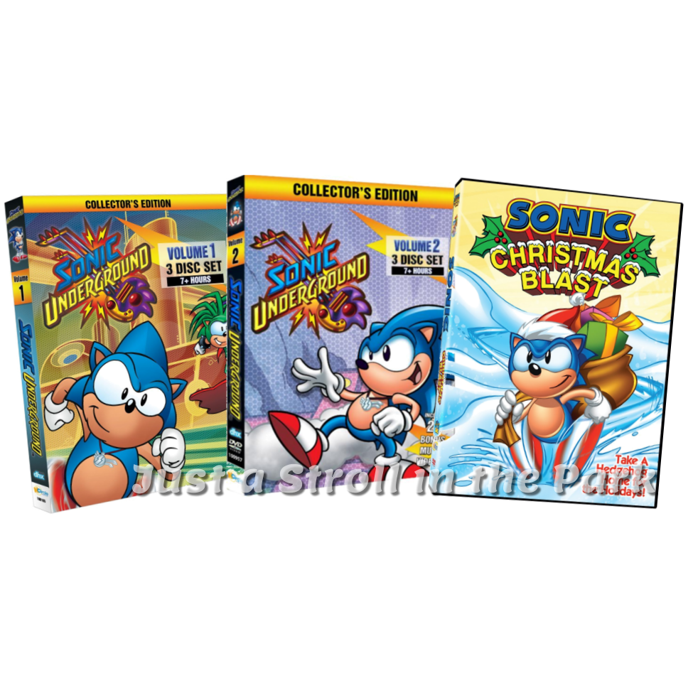 sonic underground tv series complete vol 1 2 christmas blast boxdvd sets - Sonic Christmas Hours