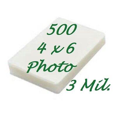 4 X 6 Laminating Laminator Pouches Sheets 500 4-14 X 6-14 3 Mil Scotch Quality