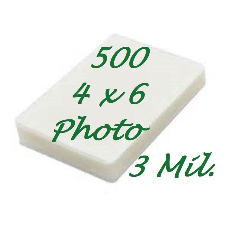 4 x 6 Laminating Laminator Pouches Sheets 500 4-1/4 x 6-1/4 3 Mil Scotch Quality