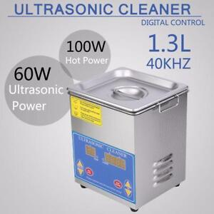 NEW ULTRASONIC CLEANER 1.3L WITH HEATER ULTRA JEWELRY  STAINLESS STEEL