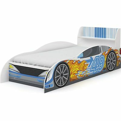 Racing Car Single Blue Bed Frame Children's / Boys, Kids