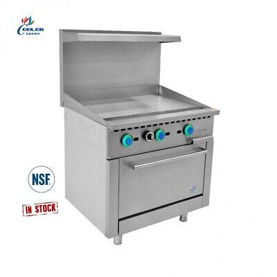 New 36 Griddle Top Oven Range Stove Commercial Kitchen Restaurant Nsf