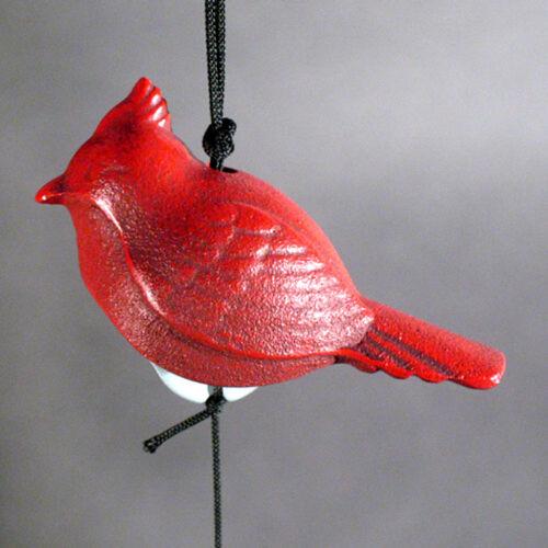 Vintage Japanese Iron Figural  Bell/windchime - Red Cardinal Bird