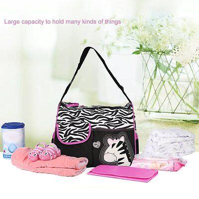 Large Capacity Multifunctional Zebra Pattern Mummy Bag Shoulder Bag Baby Care US