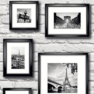 paris en cadre blanc papier peint brique by muriva 77209 ebay. Black Bedroom Furniture Sets. Home Design Ideas