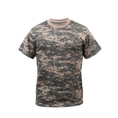 ACU Digital Camouflage T-Shirt Hunting Camo US Army Combat Uniform Style XS-4X Acu Digital Camouflage T-shirt