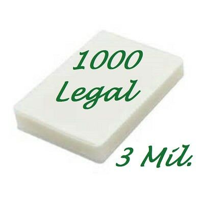 Legal Laminating Laminator Pouches Sheets 1000 9 X 14 1 2 3 Mil Scotch Quality