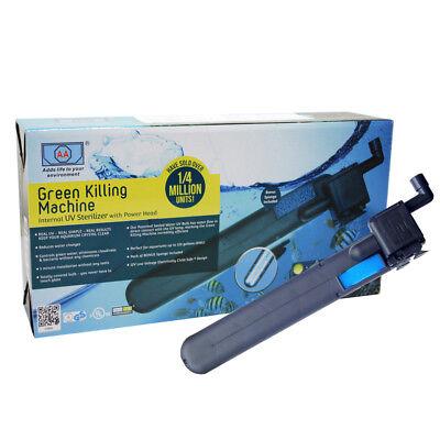 Aquarium UV Sterilizer Internal Clarifier Fish Tank Filter Pump 24w / 450L/h