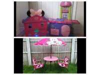 Minie mouse play kitchen,play house,garden set