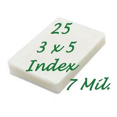 3 X 5 25 Pk 7 Mil Laminating Pouches Laminator Sheets 3-12 X 5-12 File Card