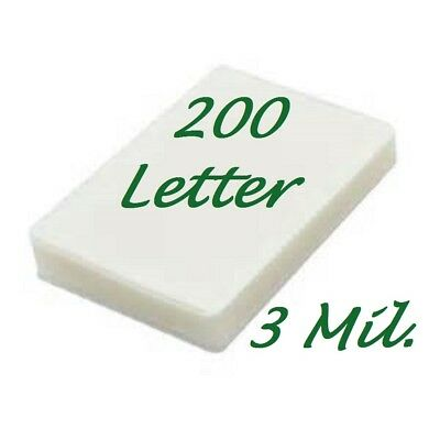 200 Letter 3 Mil Laminating Pouches Laminator Sheets 9 X 11-12 Scotch Quality