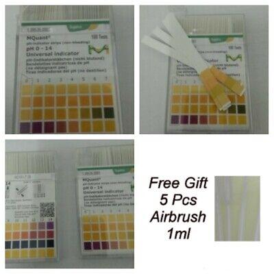 100 Strips Merck Ph Testing Kit 1-14 Acid Alkaline Universal Indicator