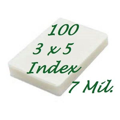 3 X 5 Laminating Laminator Pouches Sheets 3-12 X 5-12 100 7 Mil Scotch Quality