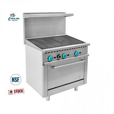 New 36 Broiler Top Oven Range Stove Commercial Kitchen Restaurant Nsf