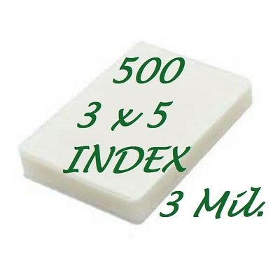 3 X 5 Laminating Laminator Pouches Sheets 3-12 X 5-12 500 3 Mil Scotch Quality