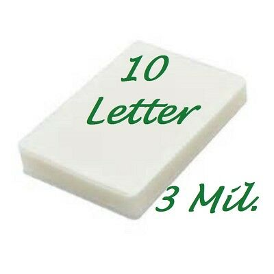 10 Letter 3 Mil Laminating Pouches Laminator Sheets 9 X 11-12 Scotch Quality