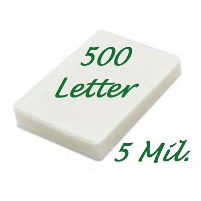 500 Letter Thermal Laminating Pouches Sheets 5 Mil 9 X 11-12 Scotch Quality