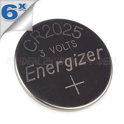 6 PC ENERGIZER CR2025 WATCH BATTERIES 3V LITHIUM CR 2025 DL2025 BR2025