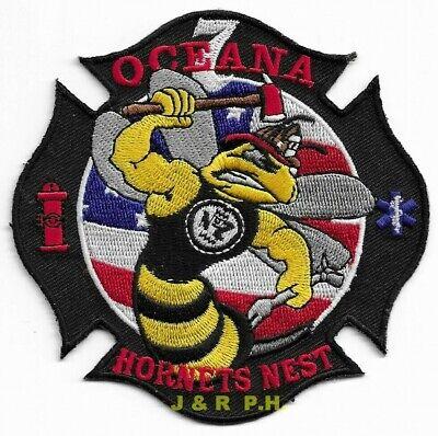 "*NEW*  NAVY - Oceana Station - 7  ""Hornet's Nest"", VA (4"" x 4"" size) fire patch"