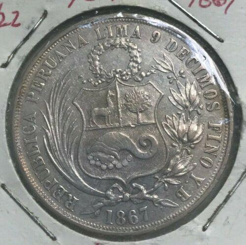 1867 YB Peru 1 One Sol - AU