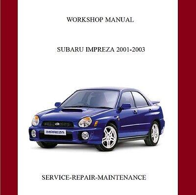 Subaru Impreza WRX/STi 2001-2003 Workshop Repair Manual