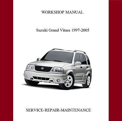SUZUKI GRAND VITARA 1997-2005 WORKSHOP SERVICE REPAIR MANUAL AUTO
