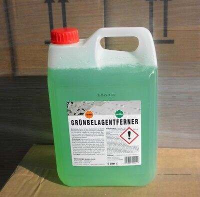 Grünbelagentferner  Moosentferner Algenentferner Unkrautvernichter 5L Konzentrat
