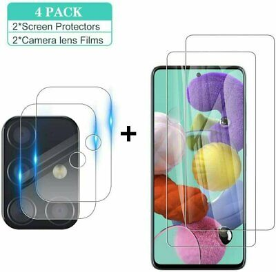 Tempered Glass Screen Protector + Camera Lens Film For Samsung Galaxy A51 A71 5G Cell Phone Accessories