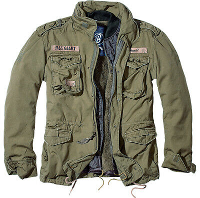 (Brandit® US Army M-1965 M65 GIANT Military Warm Lining Field Mens Jacket - Olive)