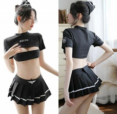 Sexy Police Officer Cosplay Uniform Policewomen Costume Pleated Skirt - Police Officer Uniform Kostüm