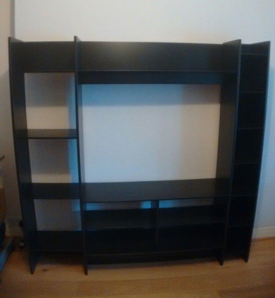 Tv Storage Unit Ikea Mavas Black Brown In Kingston