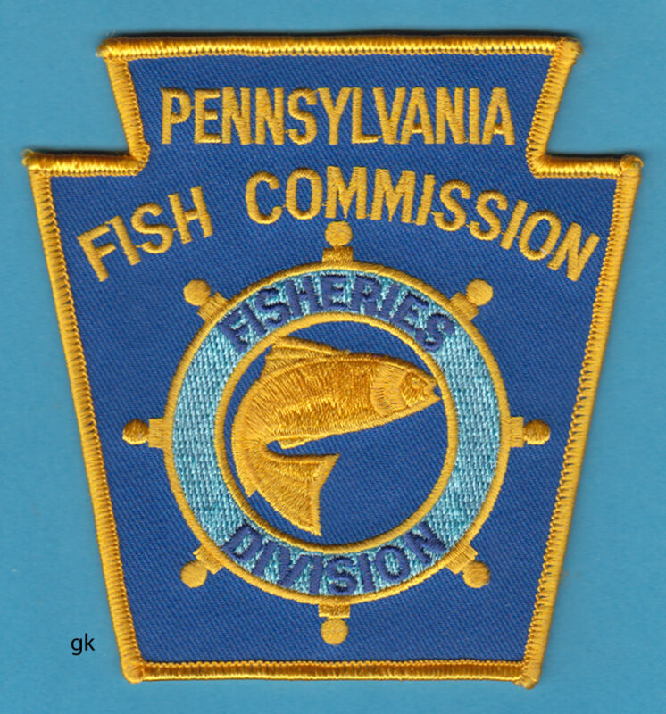 PENNSYLVANIA FISH COMMISSION  FISHERIES DIVISION POLICE SDHOULDER PATCH
