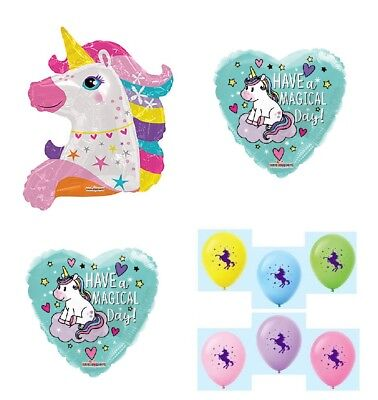 UNICORN Have a Magical Day Happy Birthday Party Decoration Balloons Set