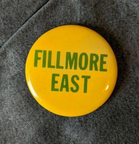 Fillmore East Pin Badge Button Bill Graham New York City NY Arista Grateful Dead
