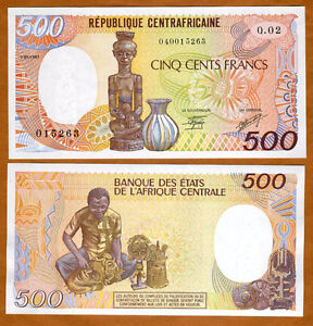 Central African Republic, 500 francs, 1987, P-14c, UNC
