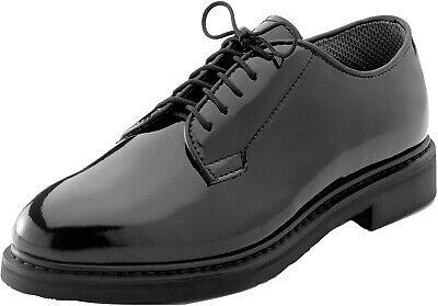 Black High Gloss Shiny Oxfords Uniform Shoes Formal Dress Military Duty (High Gloss Dress Formal)