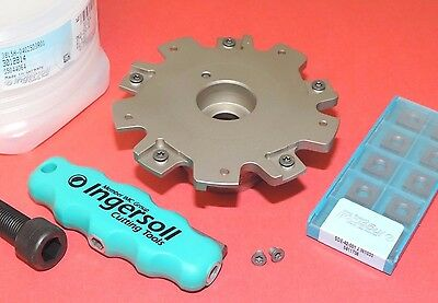 Ingersoll 4 Slot Milling Cutter W 10 Inserts .250 Width 38l5h-04025d3r01