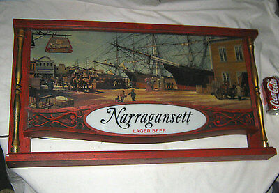 NARRAGANSETT RHODE ISLAND USA BEER BREWERY WALL SIGN LAMP SEA SHIP PORT BAR -