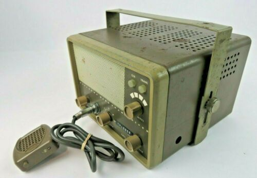 Vintage EICO CB Tube Transceiver Model 772 w/ Microphone